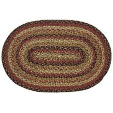 """IHF HOME DECOR Country Braided 20"""" x 30"""" Oval AREA ACCENT JUTE RUG Ginger Design"""