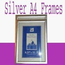 A4 Picture Wooden Photo Frames Pack Of 10 Silver Pine Black Beach UK Made