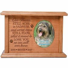 Cremation Urns for Pet Ashes Personalized Memorial Keepsake box holds 2x3 photo
