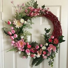 Spring Grapevine Wreath REDUCED FOR QUICK SALE