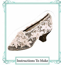 VINTAGE VISAGE Crochet pattern-how per rendere l'irlandese Crochet Lace Wedding Shoe Cover