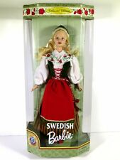 NIB BARBIE DOLL 1999 DOLLS OF THE WORLD SWEDISH