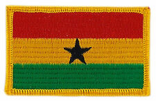 FLAG PATCH PATCHES GHANA IRON ON COUNTRY EMBROIDERED WORLD FLAG