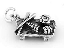 STERLING SILVER JAPANESE SUSHI PLATE w/ CHOPSTICK CHARM