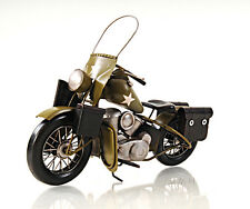"1942 Harley Davidson Military Motorcycle Metal Model 12"" Army Automotive Decor"