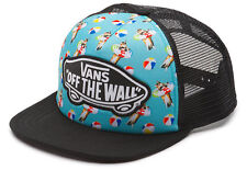 Vans Off The Wall Women's Beach Girl Kitty Cat Trucker Hat Cap - Aqua Sea