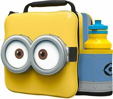 Official Minions Thermal 3D Lunch Bag Box & Drink Bottle Set - 76255