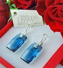 EARRINGS SWAROVSKI Elements URBAN DENIM BLUE 20mm Sterling silver 925
