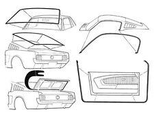 Mustang Rubber Kit Weatherstrips Door Screen Seals 1964 1965 1966 65 66 Fastback