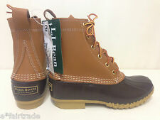 "Womens LL Bean Boots 8"" Sz 6M Duck Rain Winter Maine TAN BROWN - NWTags"