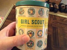 old Girl Scout tin