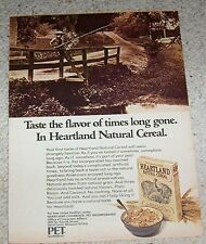 1974 ad page-Pet Heartland Natural Cereal little boy fishing vintage Advertising