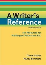 A Writer's Reference with Resources for Multilingual Writers and ESL, DIANA HACK