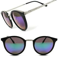 Stylish Vintage Retro Hipster Black Revo Lens Mens Womens Round Sunglasses F93