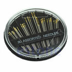 30Pcs  Assorted Hand Sewing Needles Embroidery Mending Craft Quilt Sew Case JP