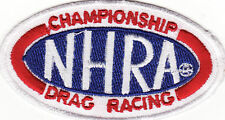 "NHRA Championship Drag Racing 3 1/8"" Embroidered Iron On Car Patch *New*"