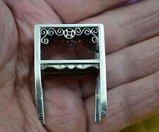 Chinese Japanese hallmarked silver miniature table C 1900 mark base dolls house
