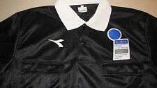 Diadora Italy Giuoco Calcio Soccer Referee Jersey NEW Shirt Long Sleeve Large