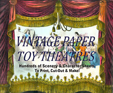 ☆ VINTAGE PAPER TOY THEATRE TEMPLATES ☆ 100's on Disc ☆ PRINT, CUT OUT & MAKE ☆