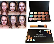 New 15 Colors Concealer Palette Face Makeup Kit Contour Cream Neutral And Brush