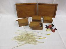 uralt Biedermeier MIKADO und Spielebox mit  farbig gehaltenen Beinteilen