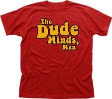 The DUDE Minds Big Lebowski funny red printed cotton t-shirt 9922