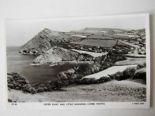 Lester Point & Little Hangman Combe Martin Real Photograph Old Postcard Tuck RP
