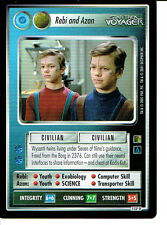 STAR TREK CCG THE BORG RARE CARD REBI AND AZAN (federation)