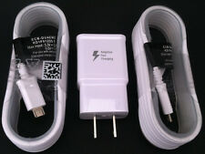 Adaptive Fast Wall Charger + 2x 5ft Cable OEM For Samsung S6 S6 Edge Note 5