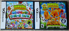 Nintendo DS Lot - Moshi Monsters Moshlings Theme Park & Katsuma Unleashed (New)