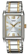 Casio MTP1235SG-7A Men's Two Tone Stainless Steel Rectangular Casual Dress Watch