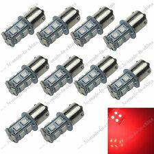 10X Red 13 SMD 5050 LED BAU15s 150° 1056 7507 PY21W Car Turn/Brake/Reverse Light