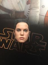 "Hot Toys Star Wars Force despierta Rey 12"" cabeza esculpida Suelto Escala 1/6th"