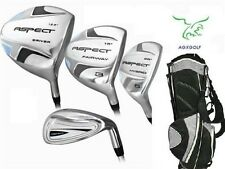 PETITE ASPECT GOLF CLUB SET GRAPHITE WOODS+HYBRIDS+STAND GOLF BAG & FREE PUTTER