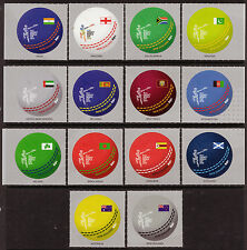 NEW ZEALAND 2015 CRICKET WORLD CUP SET  OF 14 UNMOUNTED MINT