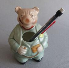 Cochon porte-crayons.Porcelaine. Porcelain Pig penholder. Schwein