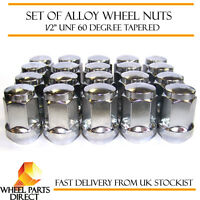 "Alloy Wheel Nuts (20) 1/2"" UNF Degree Tapered for Jeep Grand Cherokee 1991-2010"