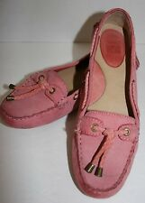 Frye Reagan Bubble Gum Pink Leather Moccasins Flat Shoes Womens Sz 9 10 M