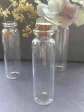 30x Glass Vial Bottles with cork crafts jewellery mini bottle small vase 22x74mm