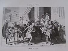 Gravure du XIXè siècle. Egypte. Aniers du Caire. F.Pannemaker. 1860
