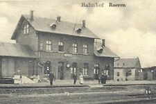 Reproduction photo d'une carte postale de la gare de Raeren