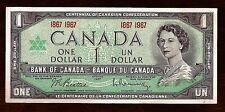ser number 1867 1967 CANADA Canadian CENTENNIAL one 1 DOLLAR BILL NOTE crisp UNC