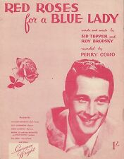 1948 Sheet Music : Red Roses for a Blue Lady as recorded by Perry Como