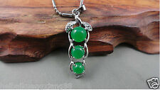 Free Shipping, green beans Malay jade pendant. To send a necklace