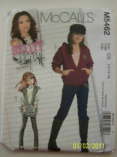 McCalls- 5462- HILLARY DUFF - Hooded Top or Vest