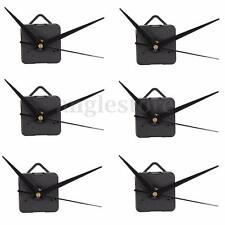 6set Black Long Spindle Hands Quartz Clock Movement Mechanism DIY Repair Tool