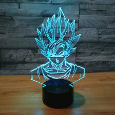 Lamp Illusion 3D Touch Switch Dragon Ball Z Super Saiyan God Goku Action Figures
