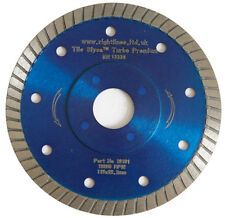 Porcelain Tile Cutting Diamond Blade. Thin Turbo. 125mm 5in. For Angle Grinders.
