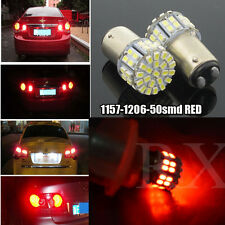 2x 380 RED 50 LED 1206 STOP BRAKE TAIL LIGHT BULBS LAMPS 1157 BAY15D P21/5W 12V