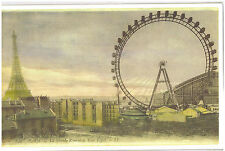 "Reproduction LG Postcard Print Paris France Eiffel Tower La Grande Roue 11""x17"""